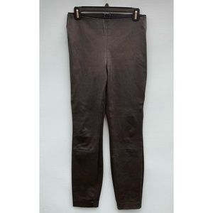 Rag And Bone Pants - Black Leather Front Leggings